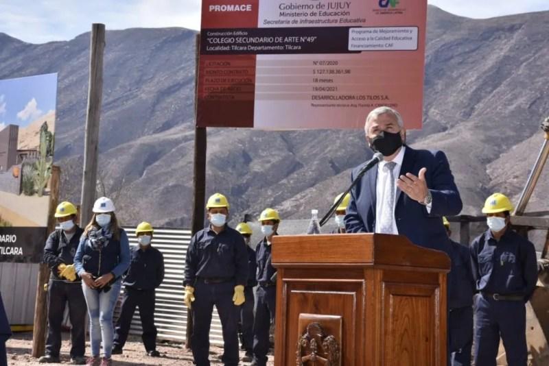 Morales puso en marcha la construcción de un edificio educativo en Tilcara