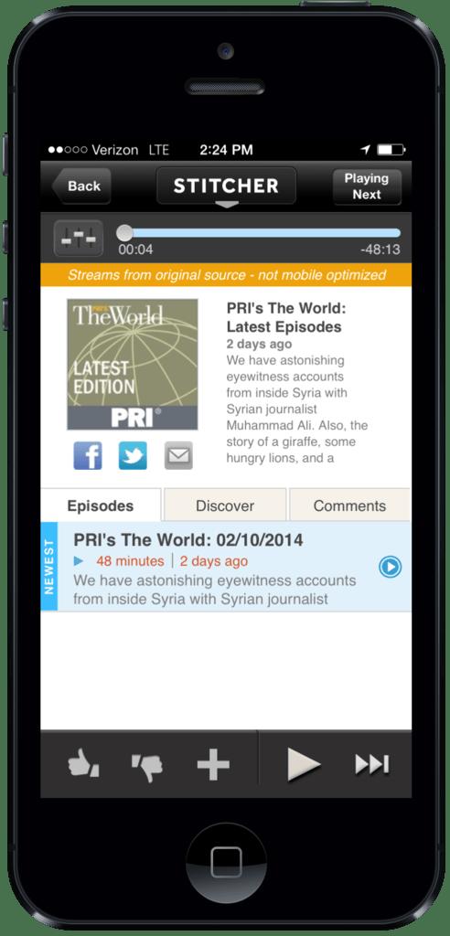 Listen Public Radio International