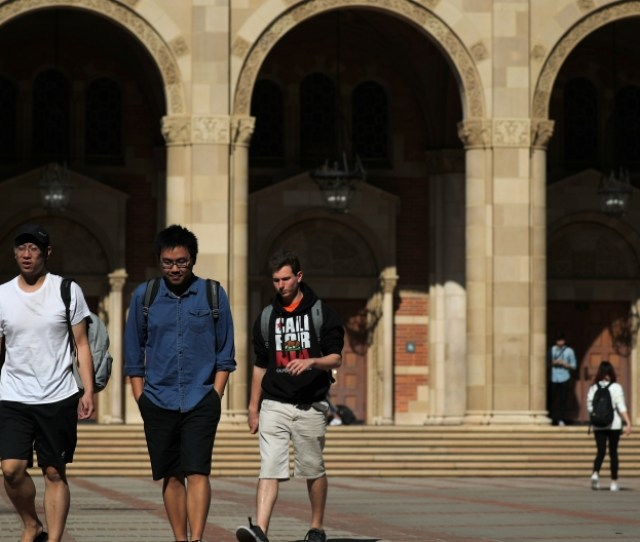 Students Walking On The Ucla Campus
