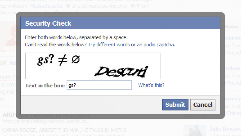 captchas are supposed to