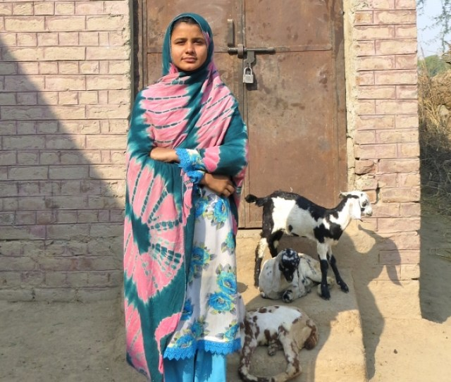 Uzma Ahmed Ali Stands In The Courtyard Of The Former Girls School Which Shut