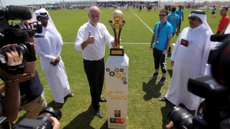 Bildergebnis für qatar fifa world cup infantino