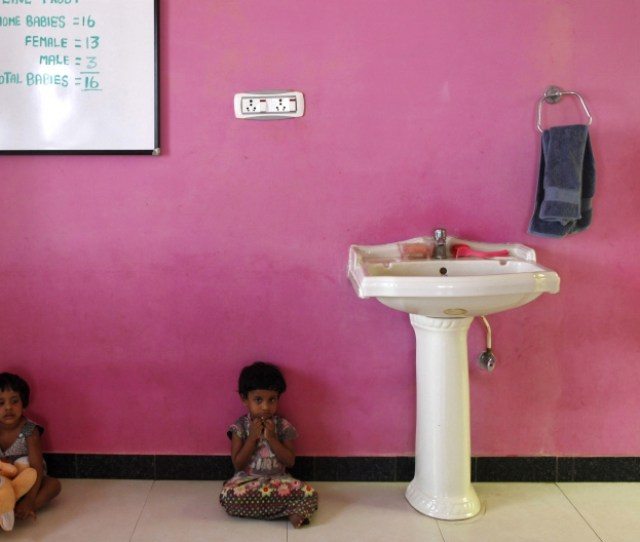 Girls Sit Inside The Life Line Trust Orphanage In Salem In The Southern Indian State Of