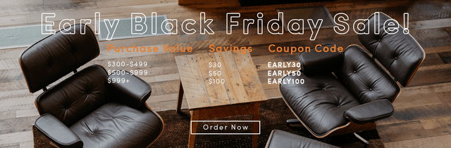 everywhere chair coupon code transport wheel manhattan home design just launched its black friday deals and t mid century furniture replicas at very reasonable prices voted 1 eames lounge replica by houzz a on bbb almost perfect reviews