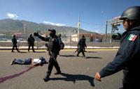 Uno de los estudiantes asesinados. Foto: AP