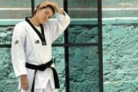 María Espinoza, taekwondista. Foto: Miguel Dimayuga
