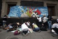Rechazados de universidades protestan en la ciudad de México. Foto: Germán Canseco
