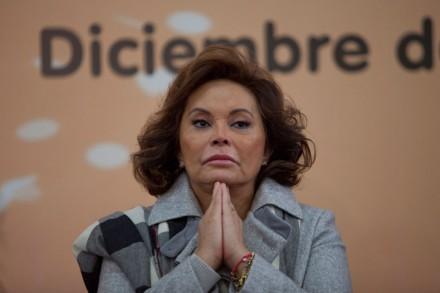 Elba Esther Gordillo, la exlideresa del SNTE. Foto: Miguel Dimayuga