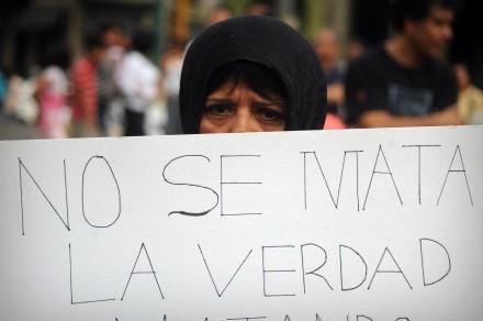Protesta en Veracruz por el asesinato de Regina Martínez. Foto: Rubén Espinoza