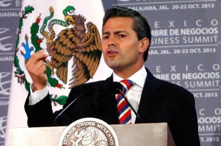 Peña durante su discurso en Jalisco. Foto: Xinhua / Xolo