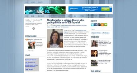 La página del bloguero que acusa a Irene Muñoz.