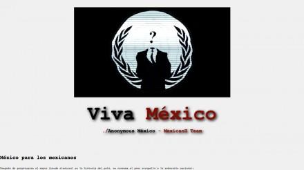 El Grito de Anonymous en la página web de la Cámara de Diputados.