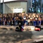 Clausuran simbólicamente la sede de la PGR por caso Ayotzinapa. Foto: Eduardo Miranda