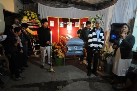 Sepelio del periodista Moisés Sánchez en Veracruz. Foto: Yahir Ceballos
