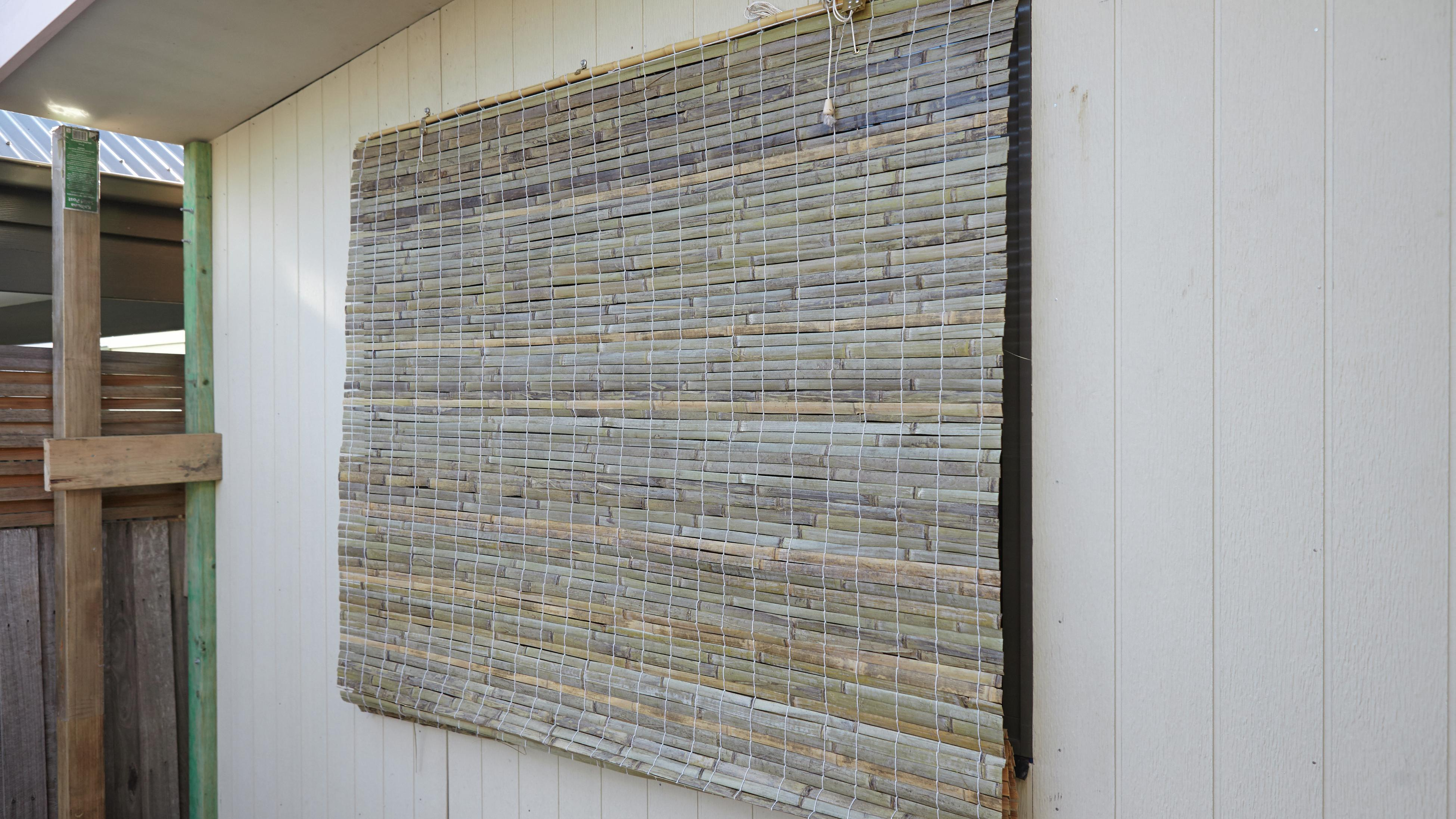how to install outdoor bamboo blinds