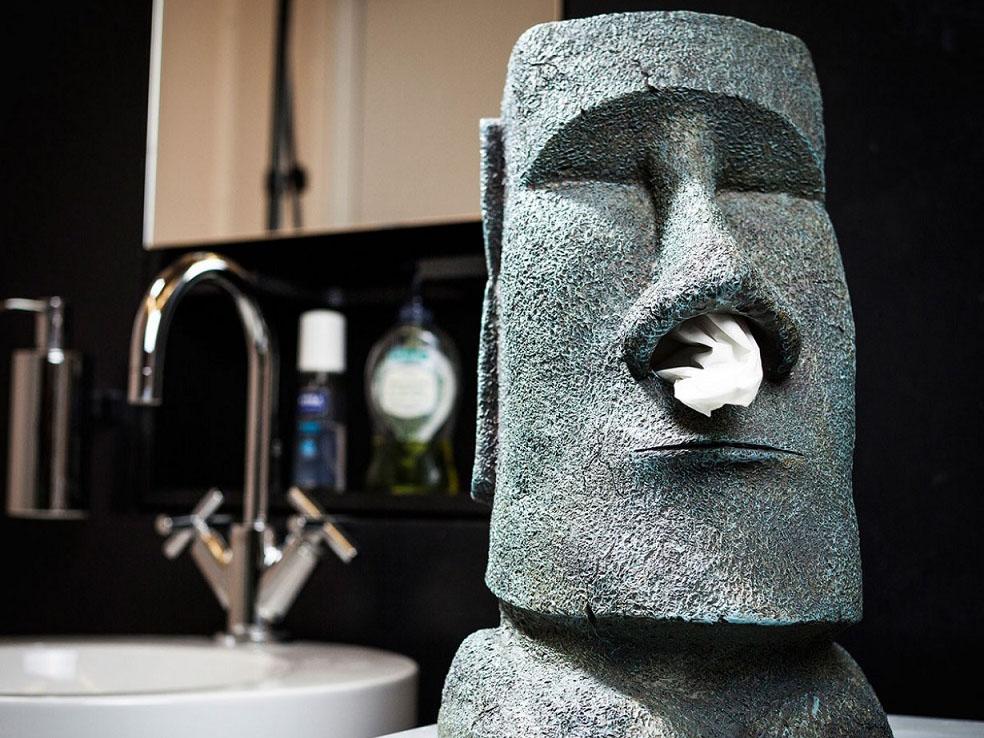 Distributeur de mouchoirs Moai  Tiki Tissue Dispenser Box