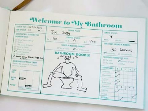 Toilet Guest Book Hardcover  Toilet Guestbook