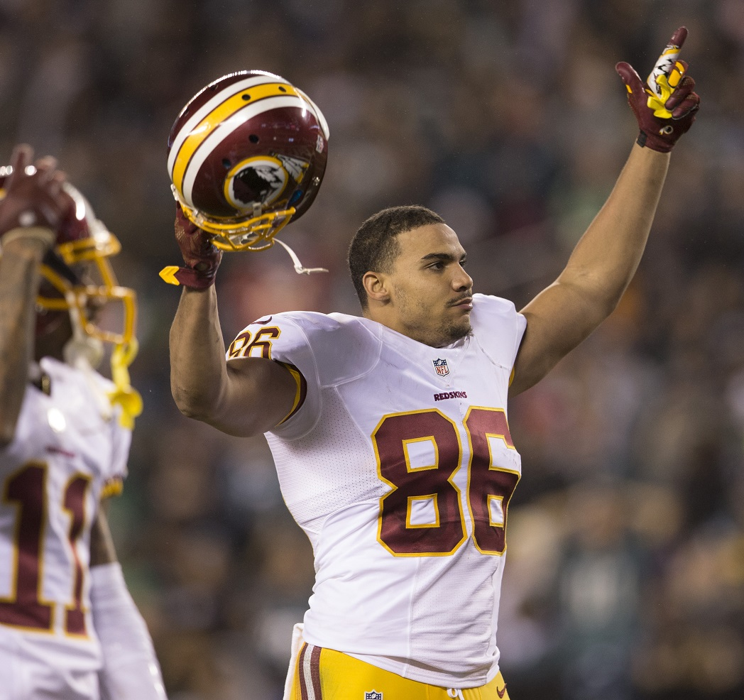 Philadelphia pa december desean jackson and jordan reed of the washington redskins react in game against eagles on also fantasy football depth charts pff news rh profootballfocus