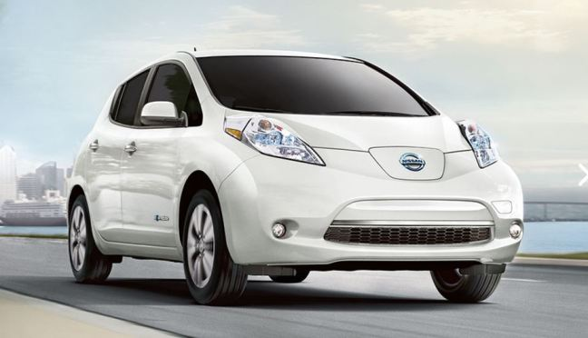 2017 Nissan Leaf electric car