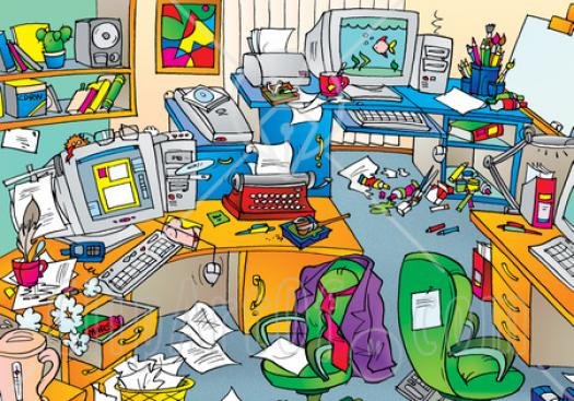 Messy Room Adjectives And Prepositions