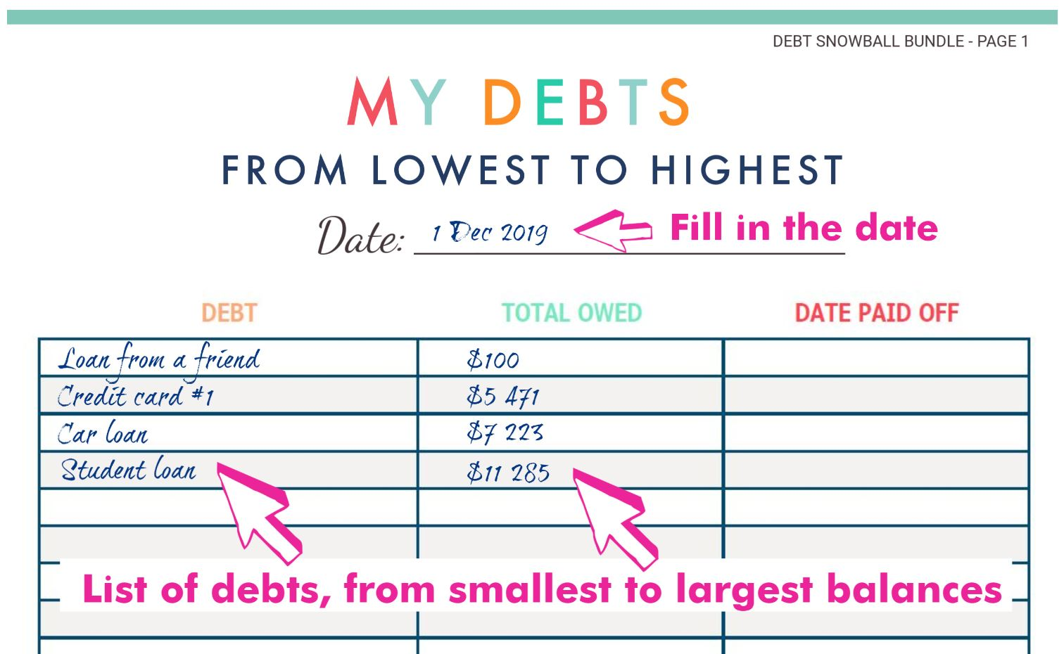 How To Get Out Of Debt With The Debt Snowball Method