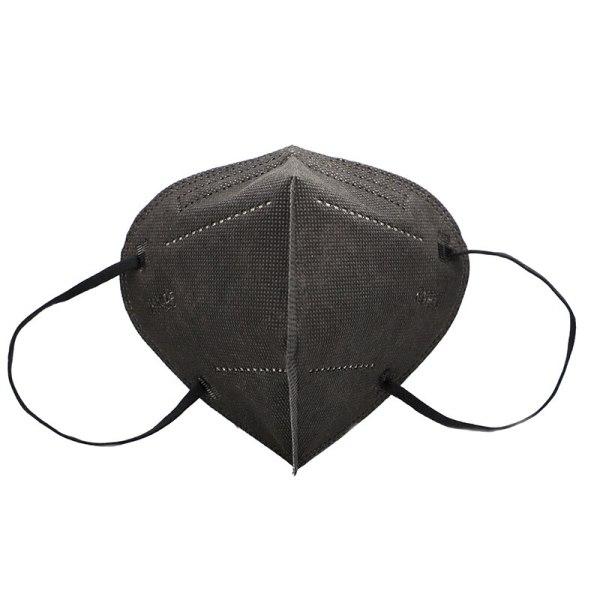Ffp2 Mask Black (Reusable 100 Pieces Kn95 Black Mask 5 Layers Ce)