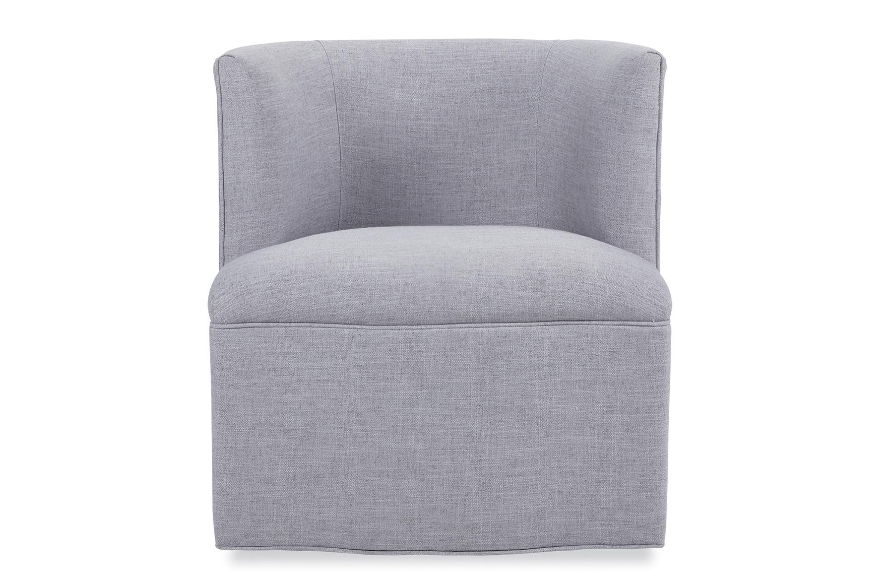 swivel chairs living room design ideas grey carpet petite barrel chair chaises chaddock co robb stucky
