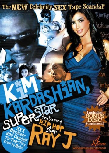 Kim Kardashian Superstar sex tape cover by porn studio Vivid Entertainment