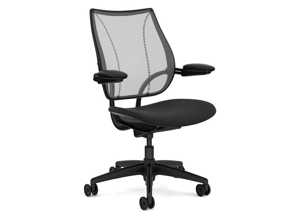 ergonomic chair used folding camping chairs humanscale liberty mesh in black