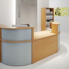 Cheap White Sofas Uk French Connection Sofa Zinc Review Ashford Reception Corner Metal Desk In Walnut | Radius Office