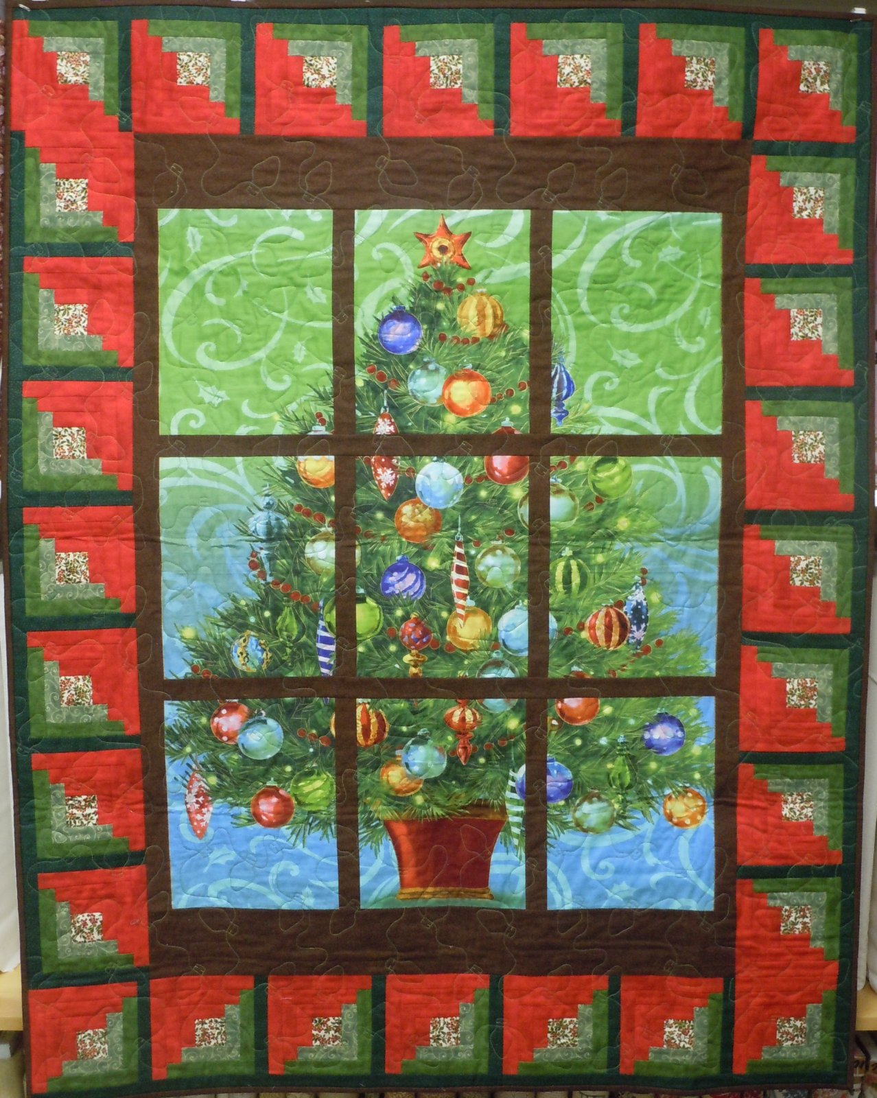 Window Pane Quilt : window, quilt, Quilt, Kit-Christmas, Window, 15501002480