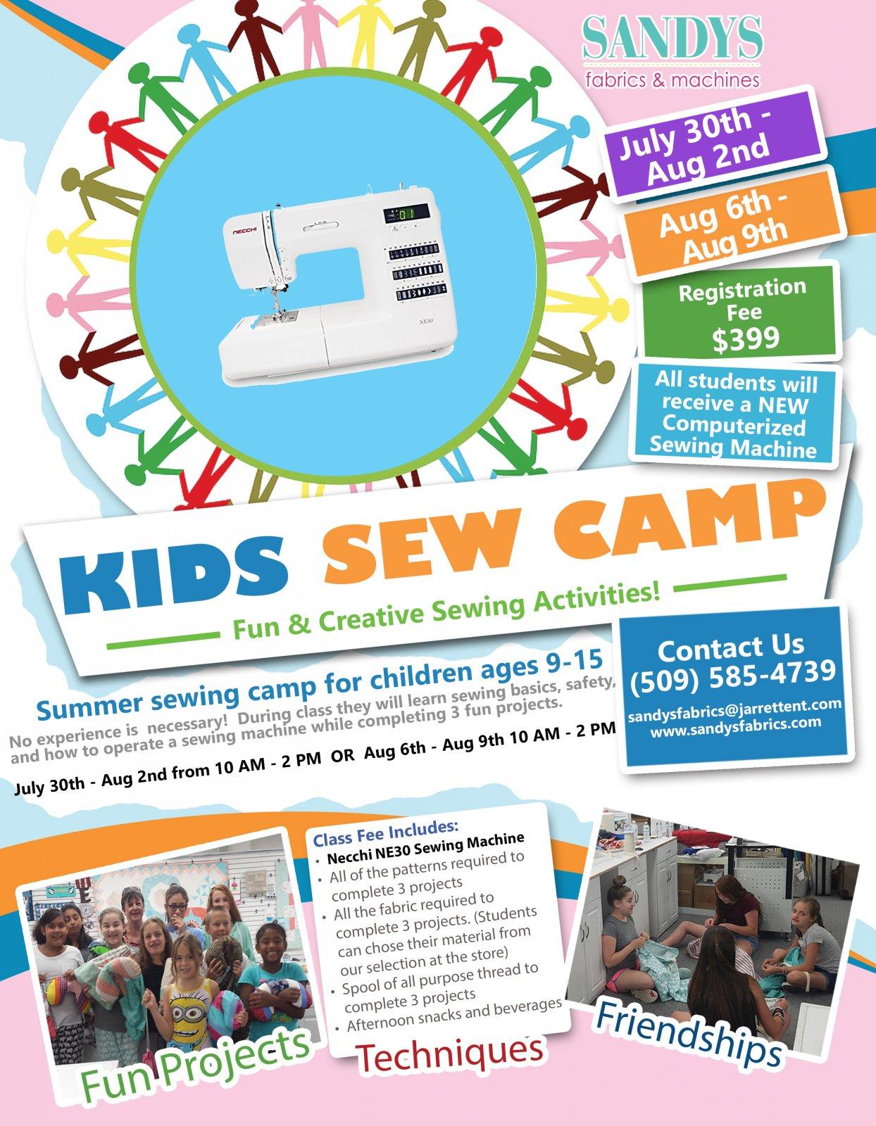 Kids Sew Camp