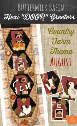 A Year of Hexi WORD Door Greeters * August KIT & Pattern