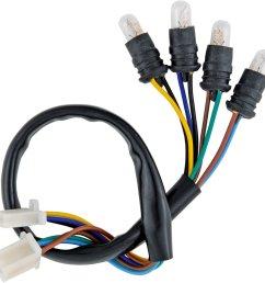 yamaha xt500 sr500 tachometer wiring harness loom w 6v 3w bulbs 01 041 [ 1600 x 1585 Pixel ]