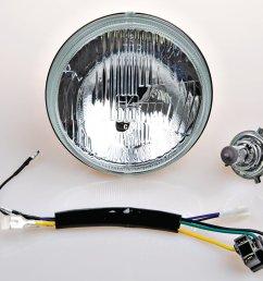 yamaha 1976 1981 xt500 6v h4 headlight conversion kit 10 013 [ 1600 x 1412 Pixel ]