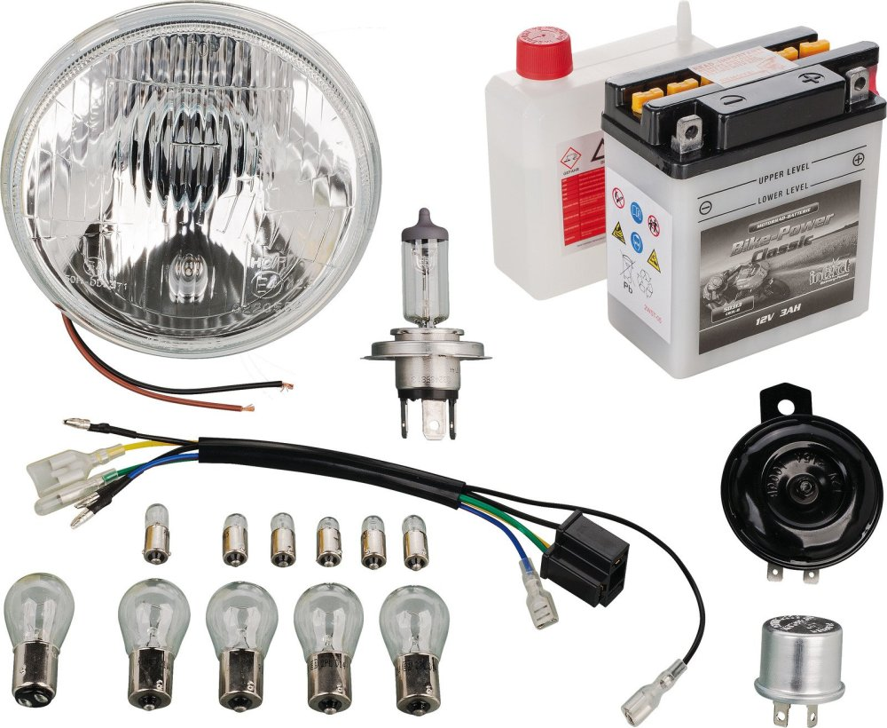 medium resolution of yamaha xt500 12v conversion add on kit for 50544 pme plug in basic or h4 upgrade 50550 50551