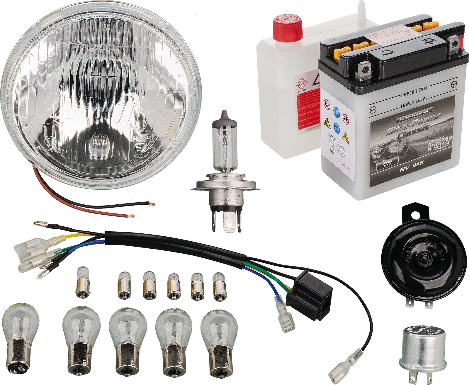 hight resolution of yamaha xt500 12v conversion add on kit for 50544 pme plug in basic or h4 upgrade 50550 50551
