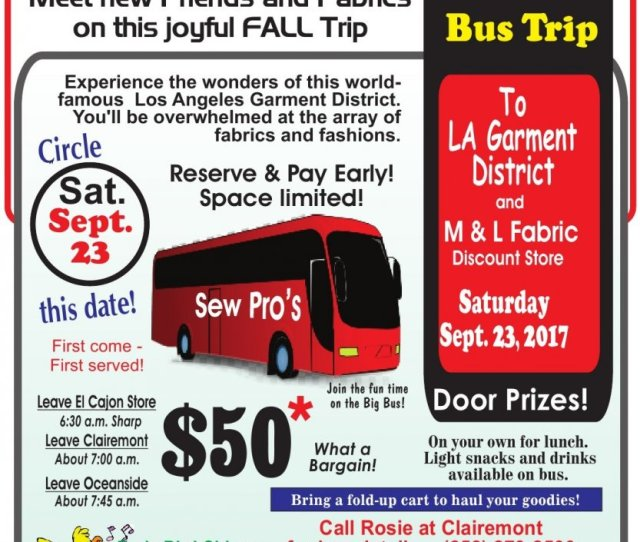 Call Rosie At Clairemont For Bus Details