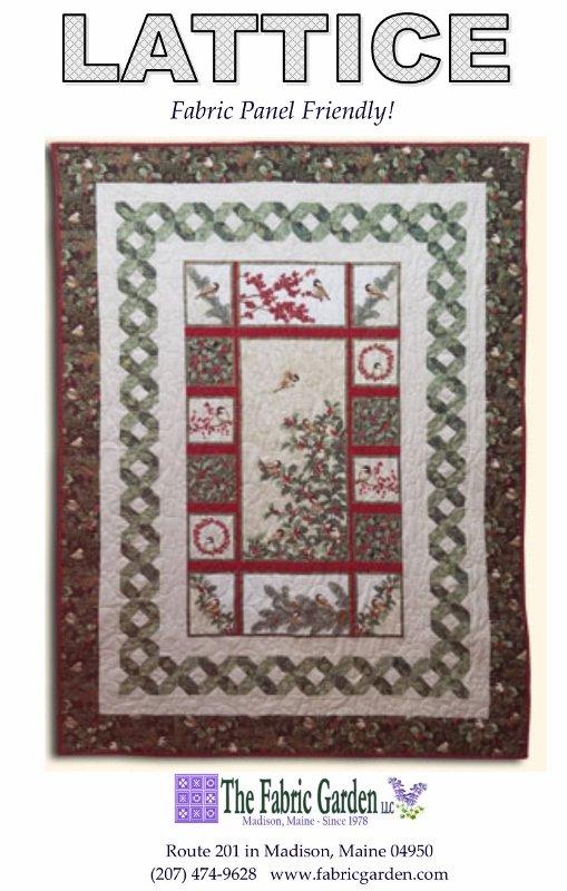 Garden Lattice Quilt Pattern : garden, lattice, quilt, pattern, Fabric, Garden-Lattice, Quilt, Pattern, Panel-Friendly, Lattice, Frame