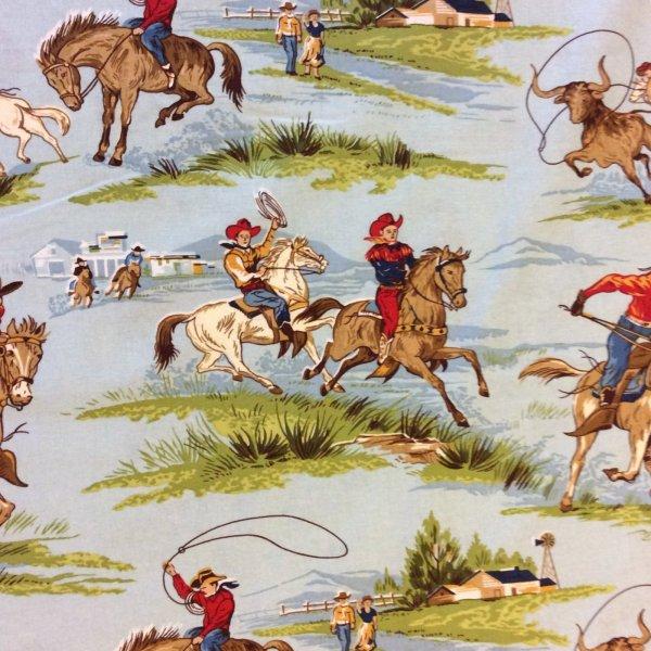 Western Cowboy Fabric Prints