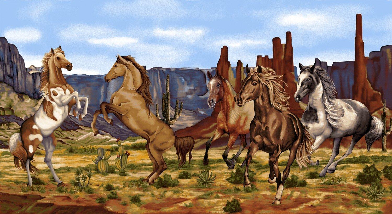 Wild Wild West 24 Fabric Panel By Art Loft For Studio E