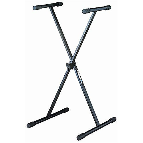 QUIK LOK T10BK KEYBOARD STAND SINGLE BRACED W/LOCKING