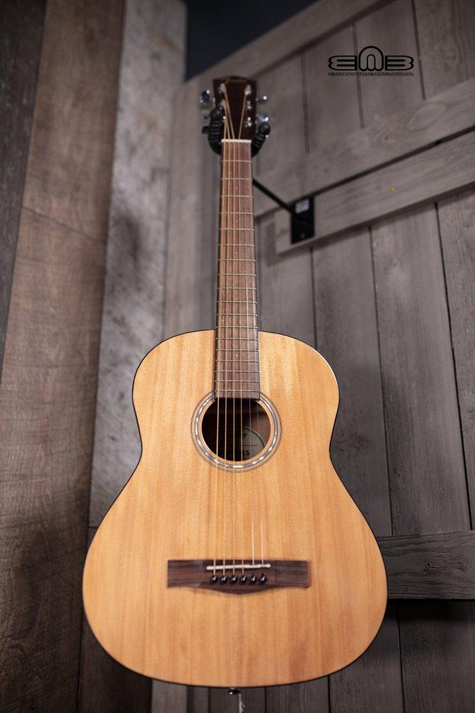 Fender Fa 15 3 4 Scale Steel Acoustic Guitar With Gig Bag Walnut Fingerboard Natural 885978902293