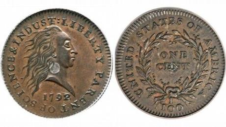 Monedă de 1 penny, vândută cu 1,15 milioane de dolari / Foto: abcnews.go.com
