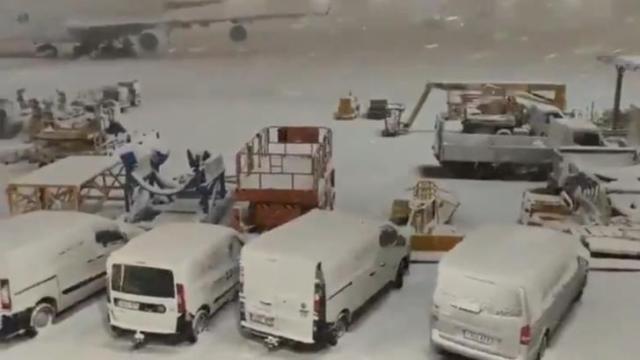 Furtună istorică de zăpadă în Spania, noi imagini SPECTACULOASE
