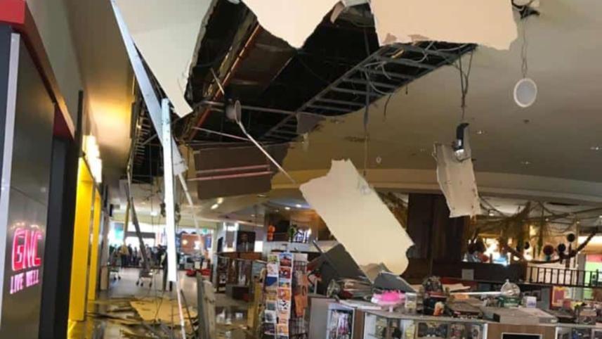 Taval Mall prăbușit. Foto: captură cluj24.ro