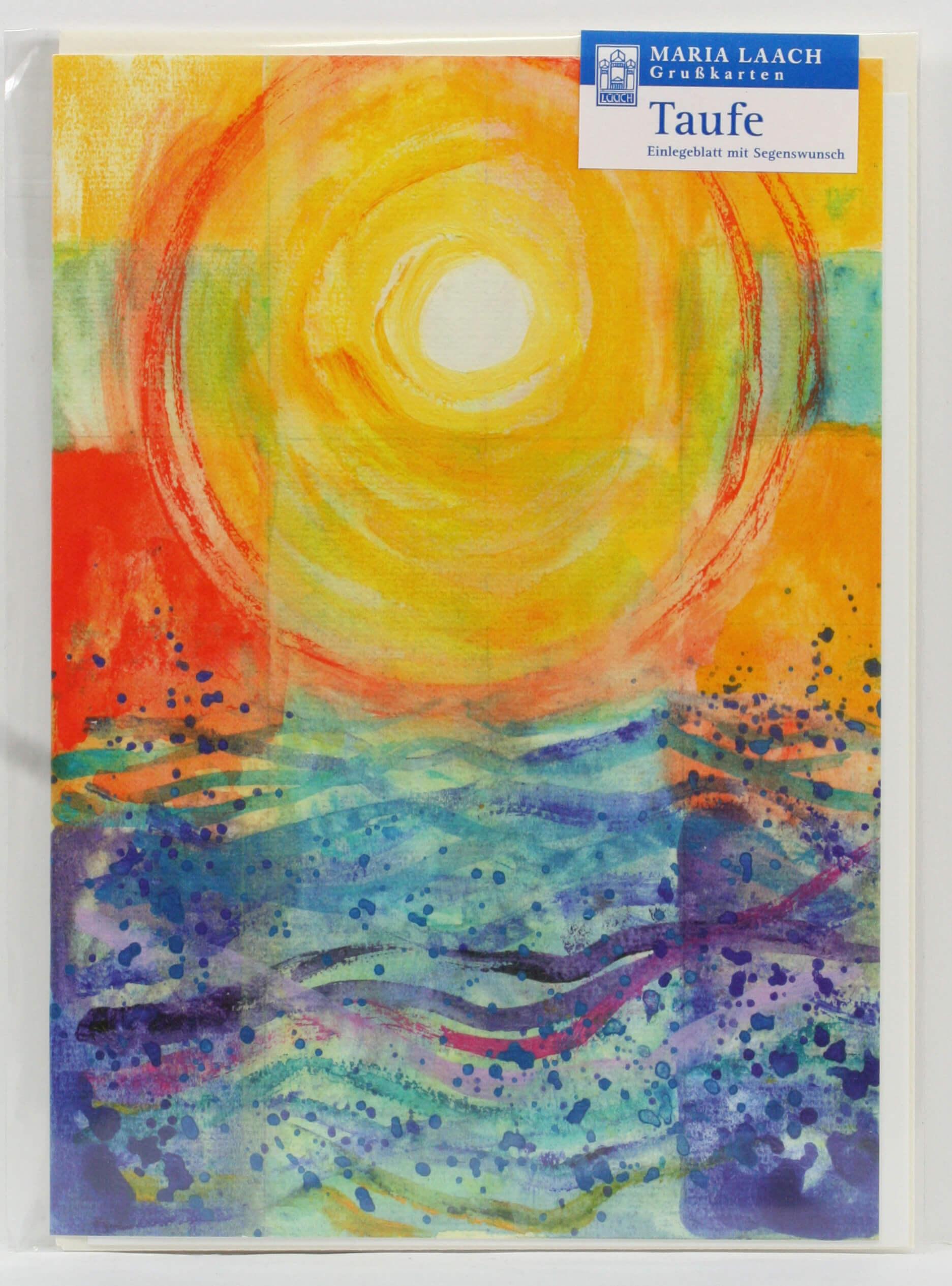 Karte zur Taufe  Sonnenuntergang