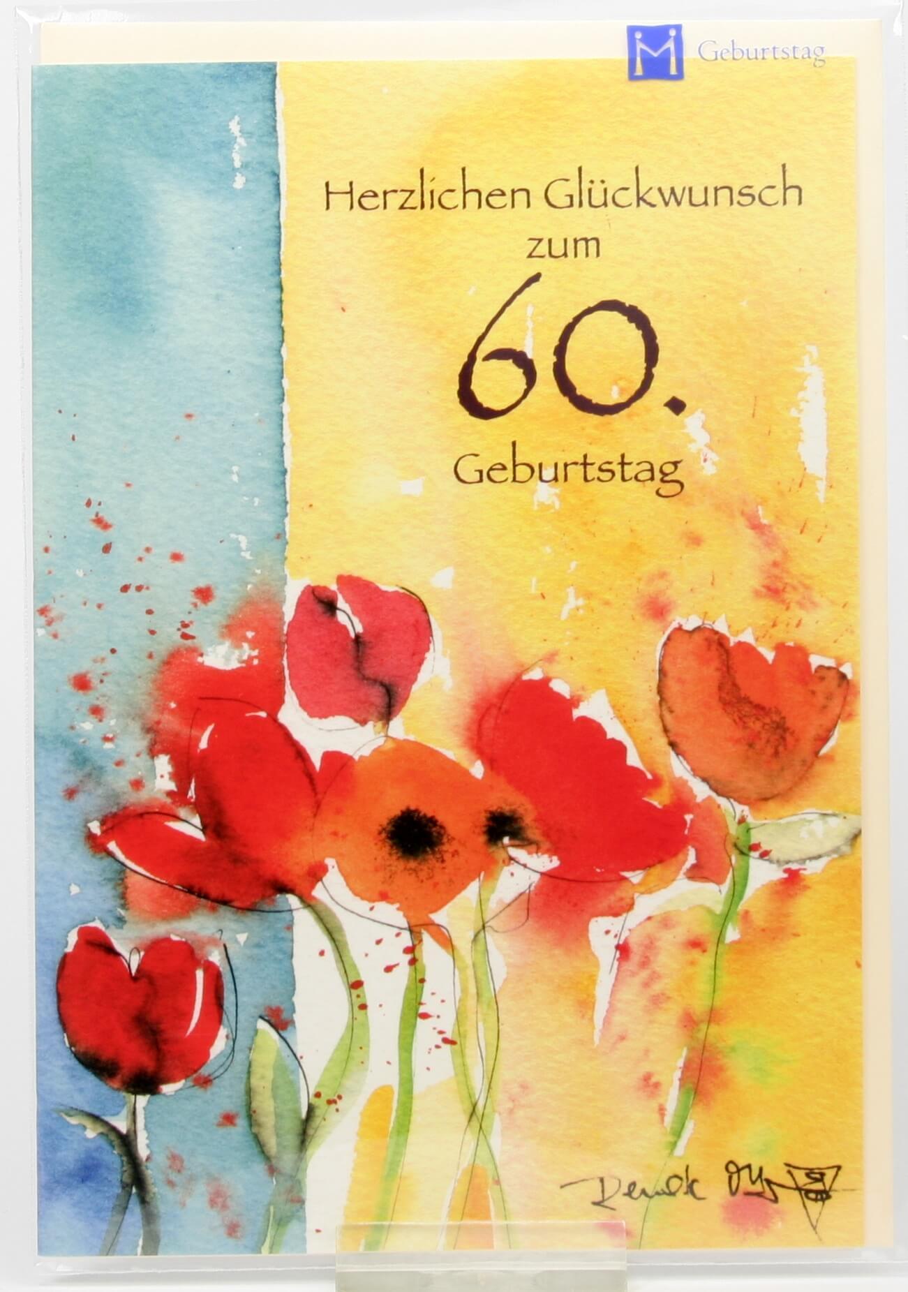 Geburtstagskarte  Mit Zahl  Aquarell  85 Jahre