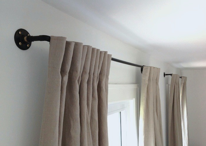 how to make a copper pipe curtain rod