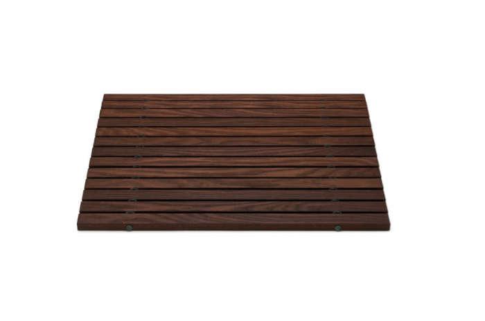 10 easy pieces wooden bath mats